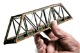 N Scale 150ft. Pratt Truss Bridge Kit.