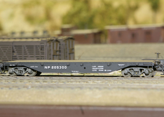 Central Valley NP Flat Car Kit Assembled.